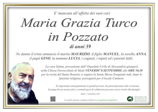 Necrologio di Maria Grazia Turco in Pozzato