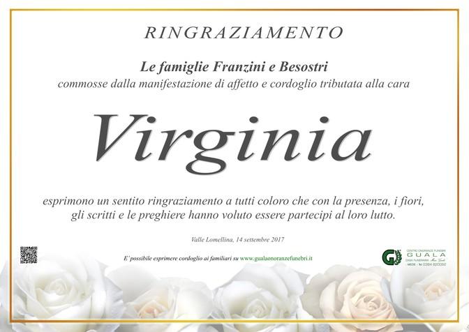 Ringraziamento per Virginia Franzini