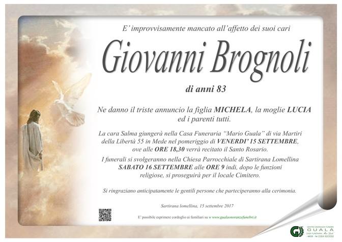 Necrologio di Giovanni Brognoli