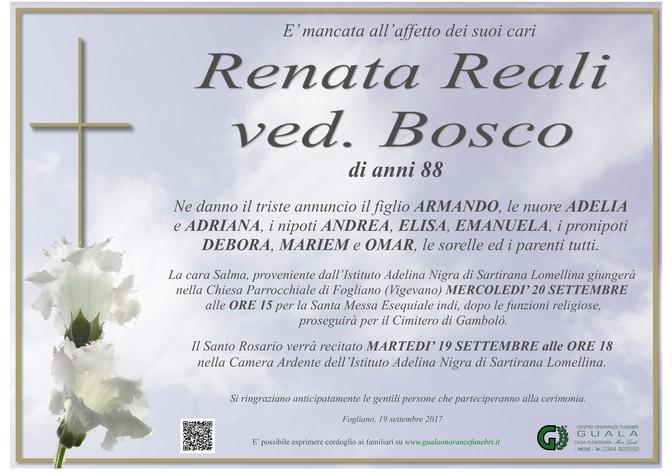 Necrologio di Renata Reali ved. Bosco