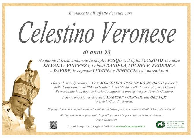 Necrologio di Celestino Veronese