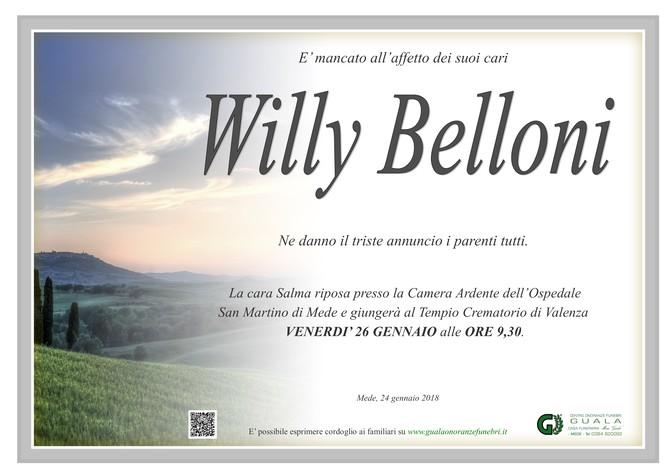 Necrologio di Willy Belloni