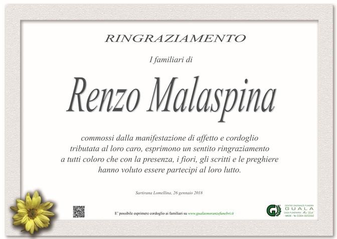 Ringraziamento per Renzo Ivo Malaspina