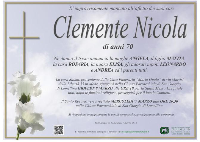Necrologio di Clemente Nicola