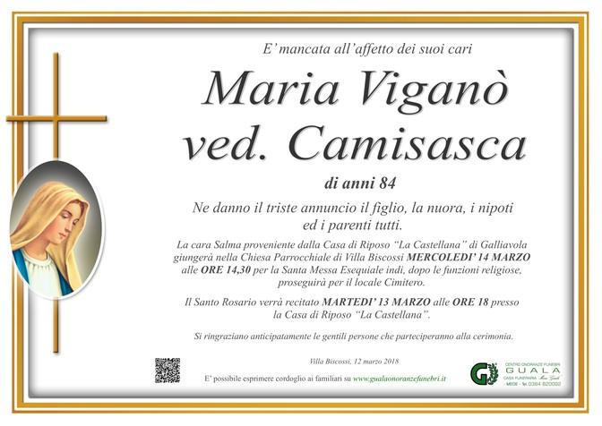 Necrologio di Maria Viganò ved. Camisasca