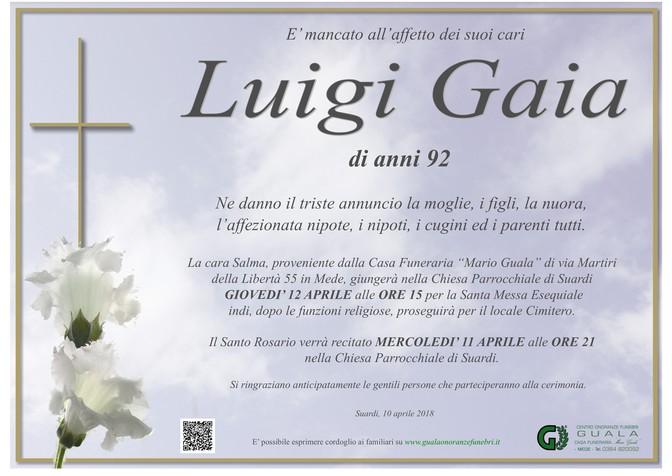 Necrologio di Luigi Gaia