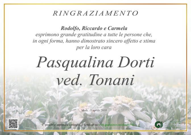 Necrologio di Pasqualina Dorti ved. Tonani