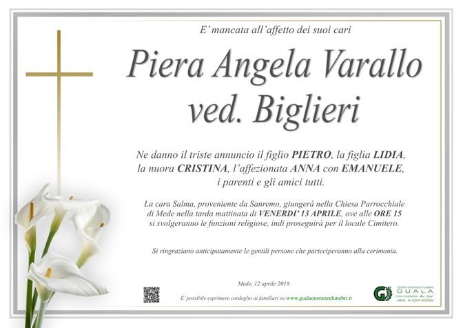 Necrologio di Piera Angela Varallo ved. Biglieri