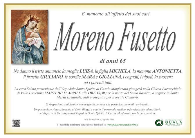 Necrologio di Moreno Fusetto