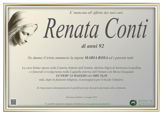 Necrologio di Renata Conti