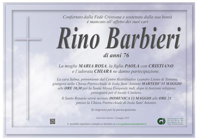 Necrologio di Rino Barbieri
