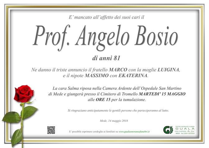 Necrologio di Prof. Angelo Bosio