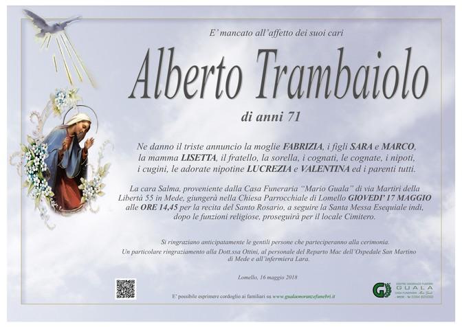 Necrologio di Alberto Trambaiolo
