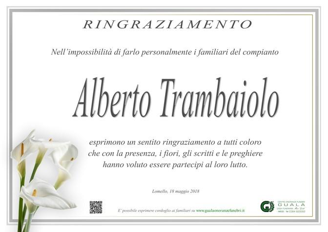 Ringraziamenti per Alberto Trambaiolo