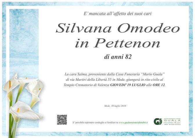 Necrologio di Silvana Omodeo in Pettenon