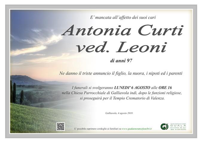 Necrologio di Curti Antonia