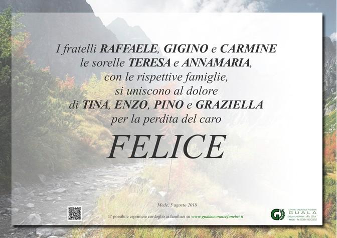 Ringraziamento per Felice Iannone