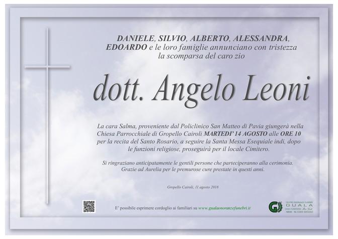 Necrologio di Dott. Angelo Leoni