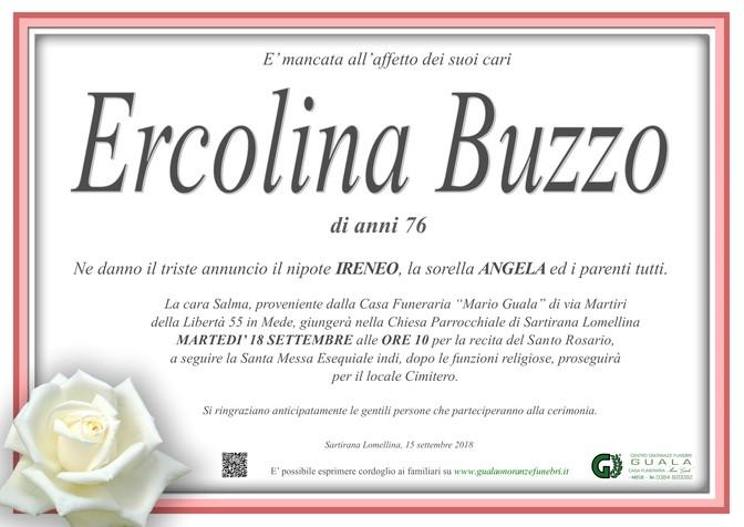 Necrologio di Ercolina Buzzo