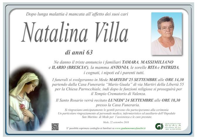 Necrologio di Natalina Villa