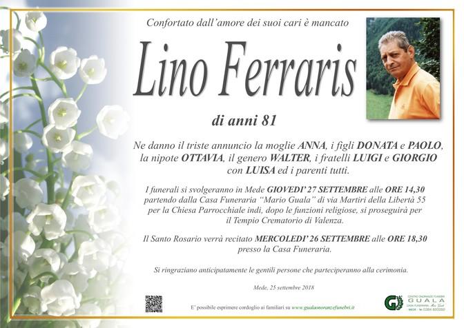 Necrologio di Lino Ferraris