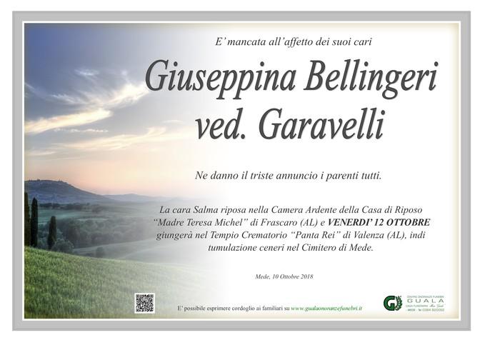 Necrologio di Giuseppina Bellingeri ved. Garavelli