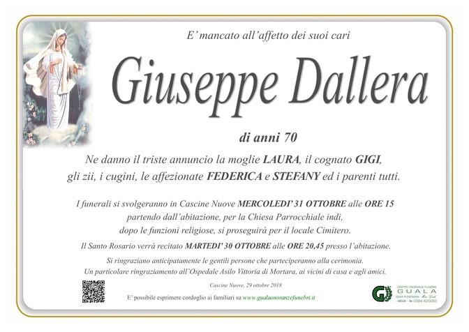 Necrologio di Giuseppe Dallera