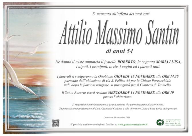 Necrologio di Attilio Massimo Santin