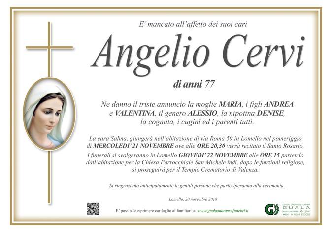 Necrologio di Angelio Cervi
