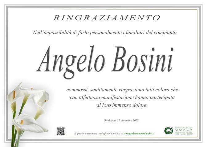 Ringraziamenti per Angelo Bosini