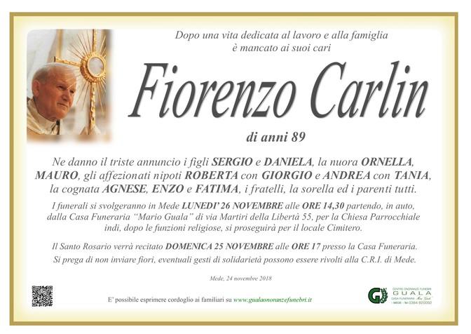 Necrologio di Fiorenzo Carlin