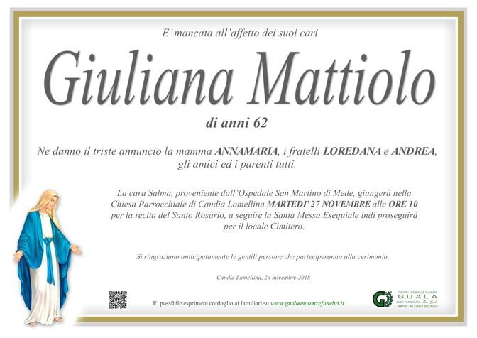 Necrologio di Giuliana Mattiolo