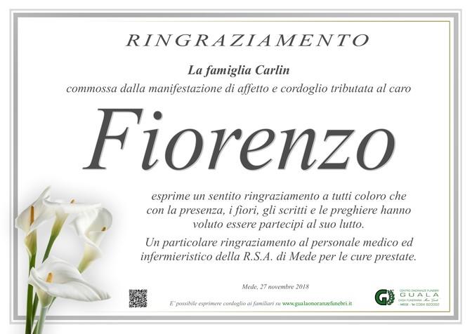 Ringraziamenti per Fiorenzo Carlin
