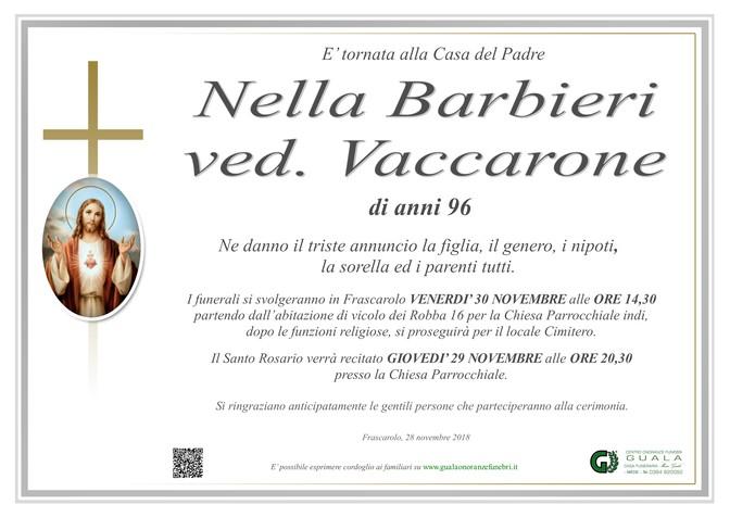 Necrologio di Nella Barbieri ved. Vaccarone
