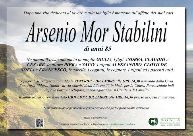 Necrologio di Arsenio Mor Stabilini