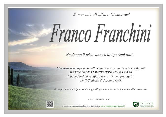 Necrologio di Franco Franchini