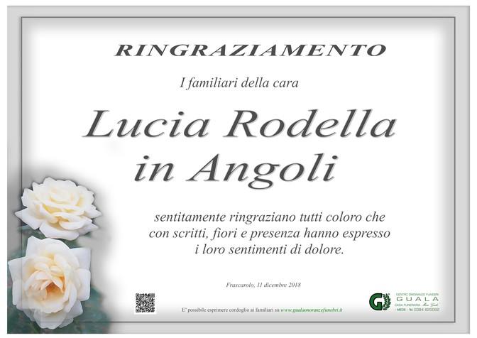 Ringraziamento per Lucia Rodella in Angoli