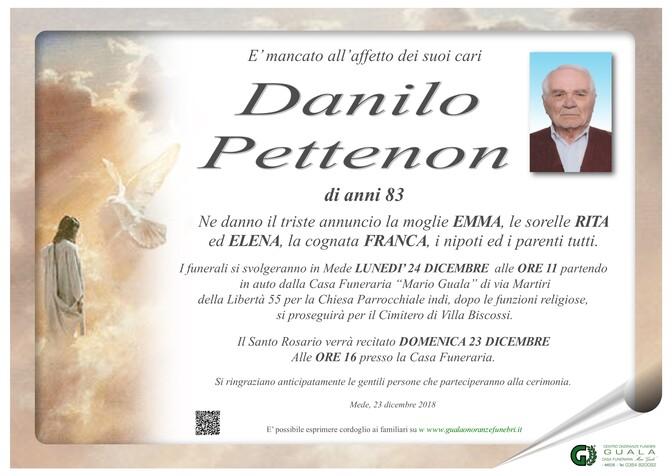 Necrologio di Danilo Pettenon