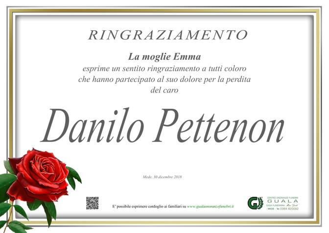 Ringraziamento per Danilo Pettenon