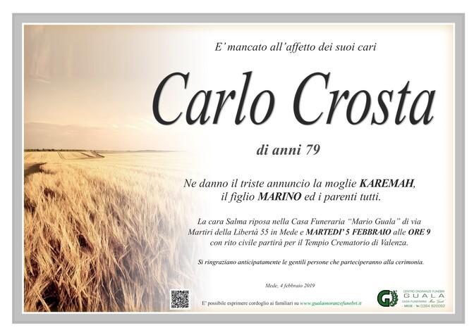 Necrologio di Carlo Crosta