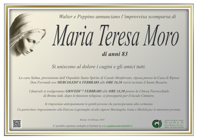 Necrologio di Maria Teresa Moro