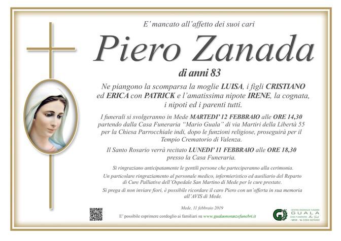 Necrologio di Piero Zanada
