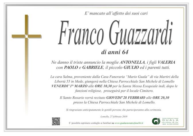 Necrologio di Franco Guazzardi