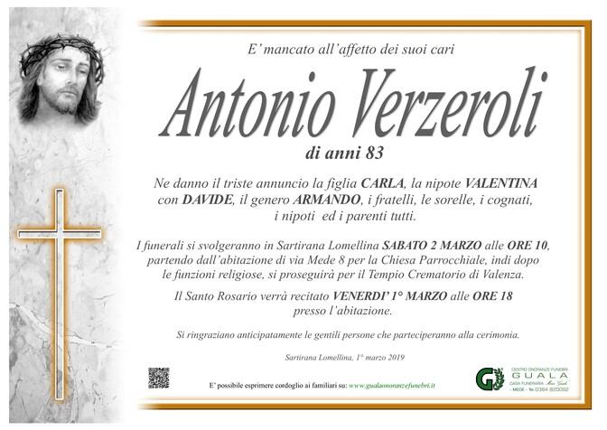 Necrologio di Antonio Verzeroli