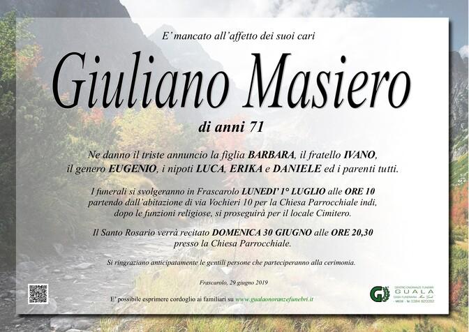 Necrologio di Giuliano Masiero