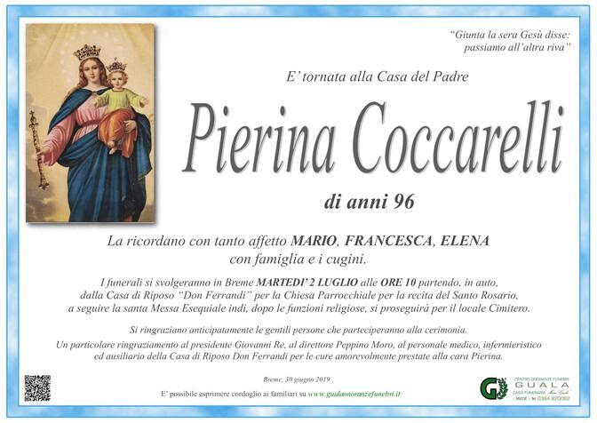 Necrologio di Pierina Coccarelli