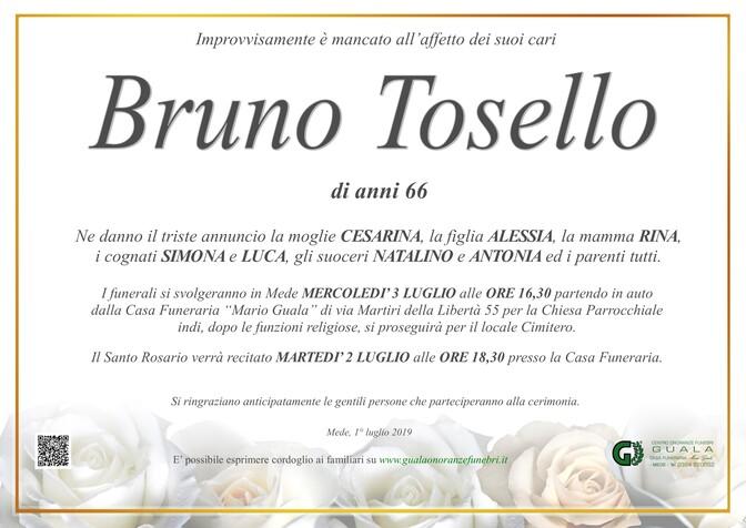 Necrologio di Bruno Tosello