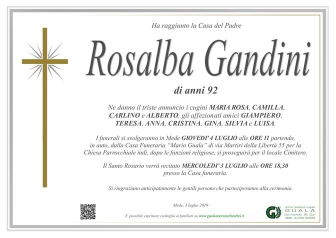 Necrologio di Rosalba Gandini
