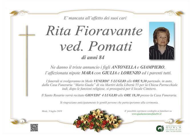 Necrologio di Rita Fioravante ved. Pomati