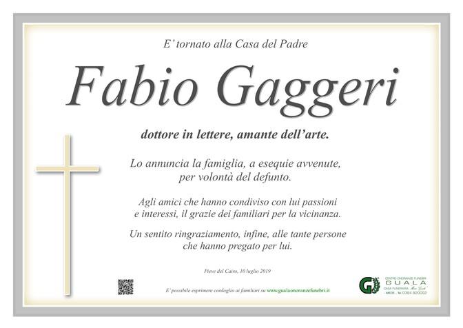 Necrologio di Fabio Gaggeri